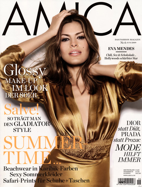 Eva Mendes Amica Germany June 2009 cover