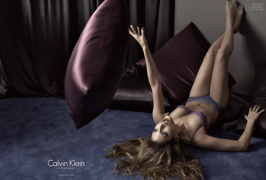 Eva Mendes Underwear Ads for Calvin Klein