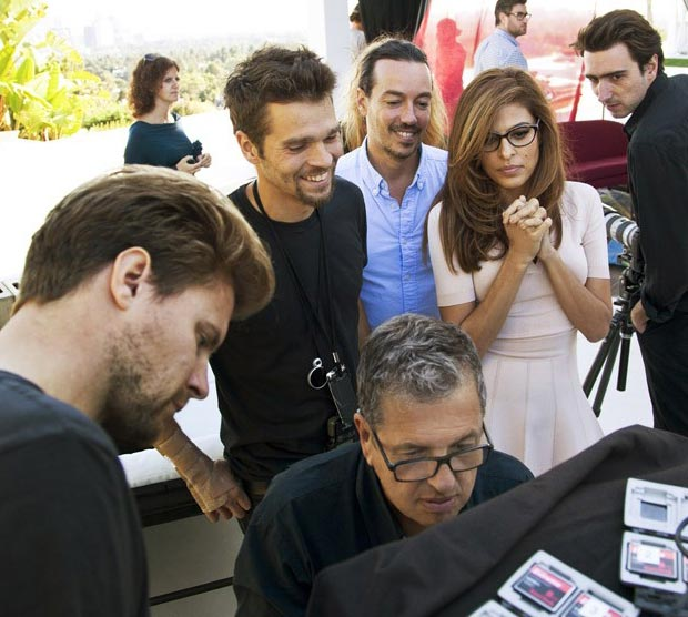 Eva Mendes wrapping up Vogue Eyewear campaign shooting