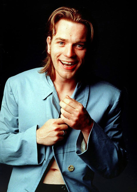 Ewan McGregor young long hair