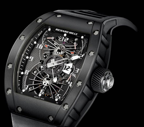 exquisite watch richard mille rm 022 carbon tourbillon dual time Spectacular Watch: Richard Mille's RM 022 Carbon Tourbillon Aerodyne Dual Time