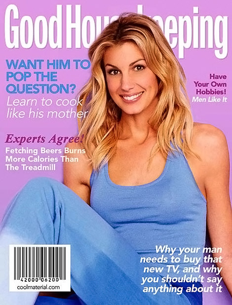 Faith Hill Good Housekeeping fake cover