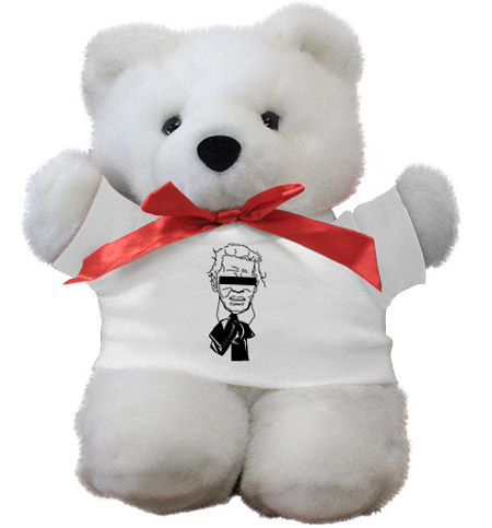 Fake Karl The Church of Karl Lagerfeld teddybear
