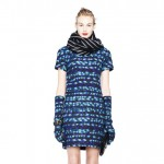 fall 2013 inspiration blue printed dress JCrew