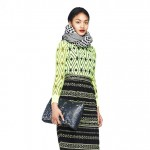 fall 2013 inspiration green mixed prints dress JCrew