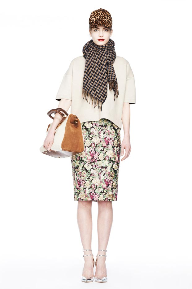 fall 2013 inspiration oversized top pencil skirt JCrew