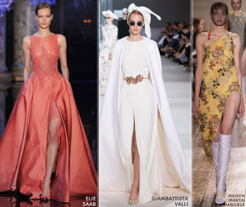 Fall 2014 trends dramatic leg slit Couture 2014 FW