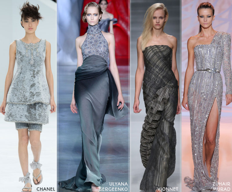 Fall 2014 trends grey Couture Winter 2015