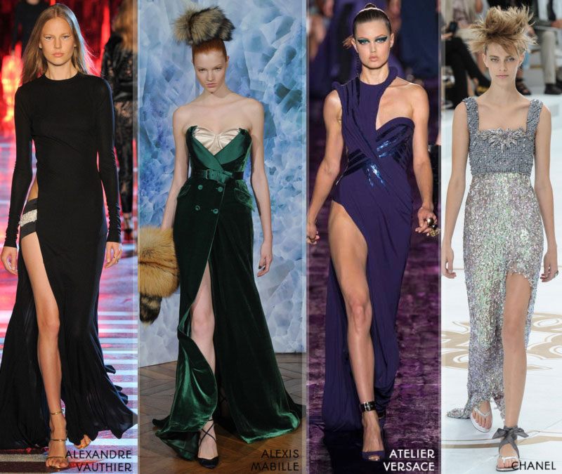 Fall 2014 trends leg slit Haute Couture Fall Winter 14