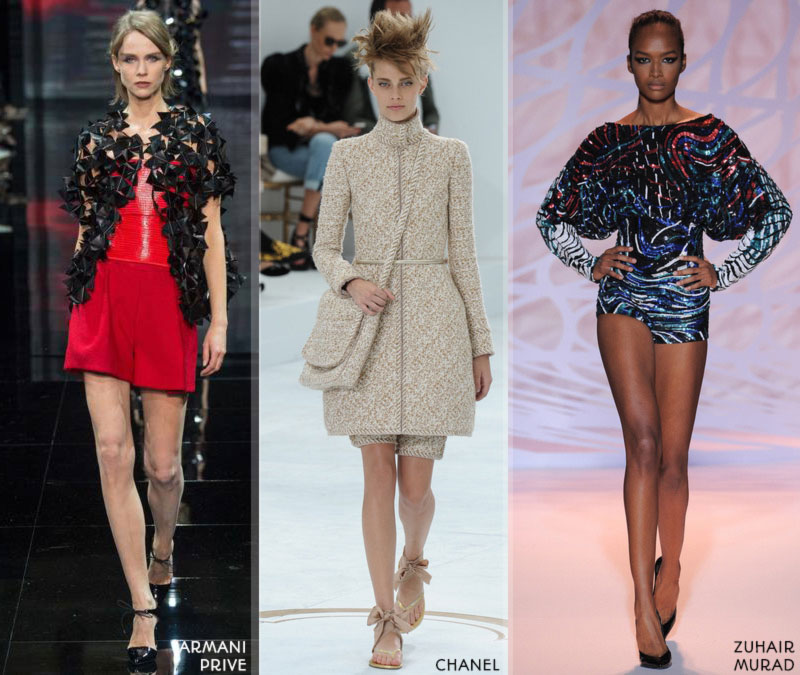 Fall 2014 trends shorts Couture FW 2015