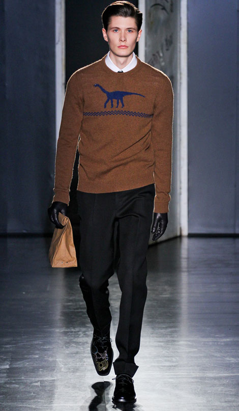 fall Winter 2012 2013 menswear trends Jil Sander catwalk Is This World's Most Expensive Brown Paper Bag: Jil Sander $290 Vasari Bag