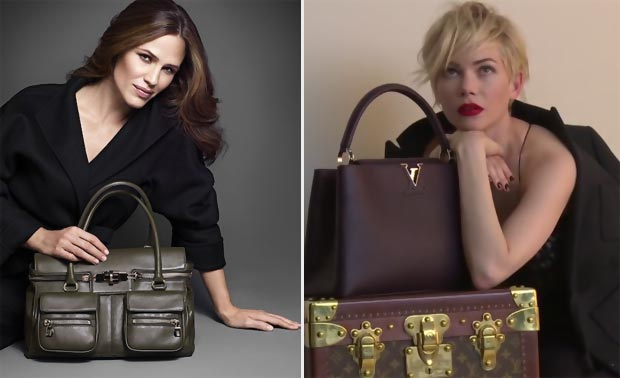 fall bags Jennifer Garner MaxMara Michelle Williams LV