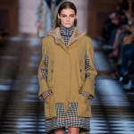 fall camel checkered print coat Tommy Hilfiger FW 2013