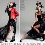 Fall fashion top trends grunge glam shiny fabric