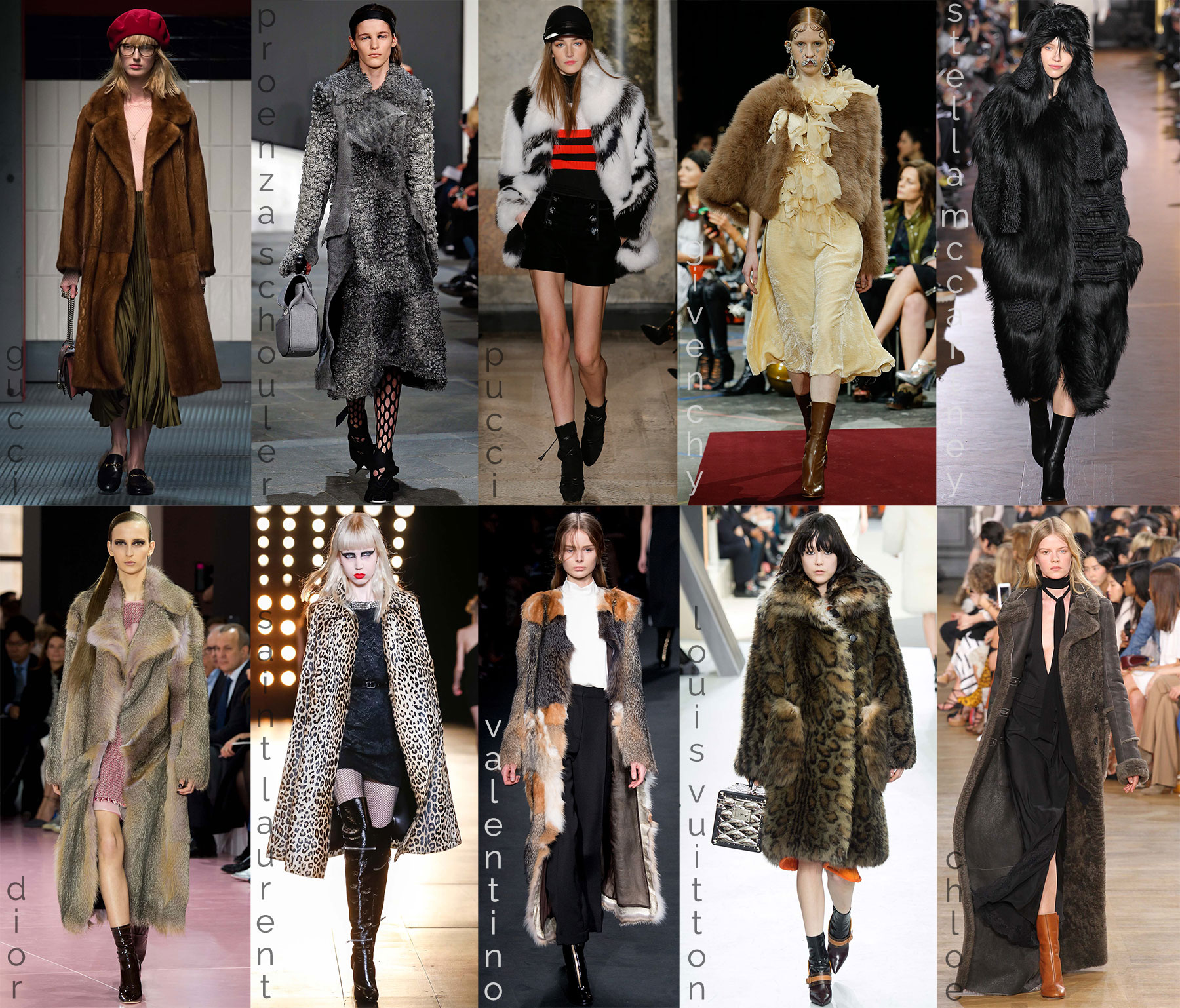 fall fashion trends coats fur catwalk