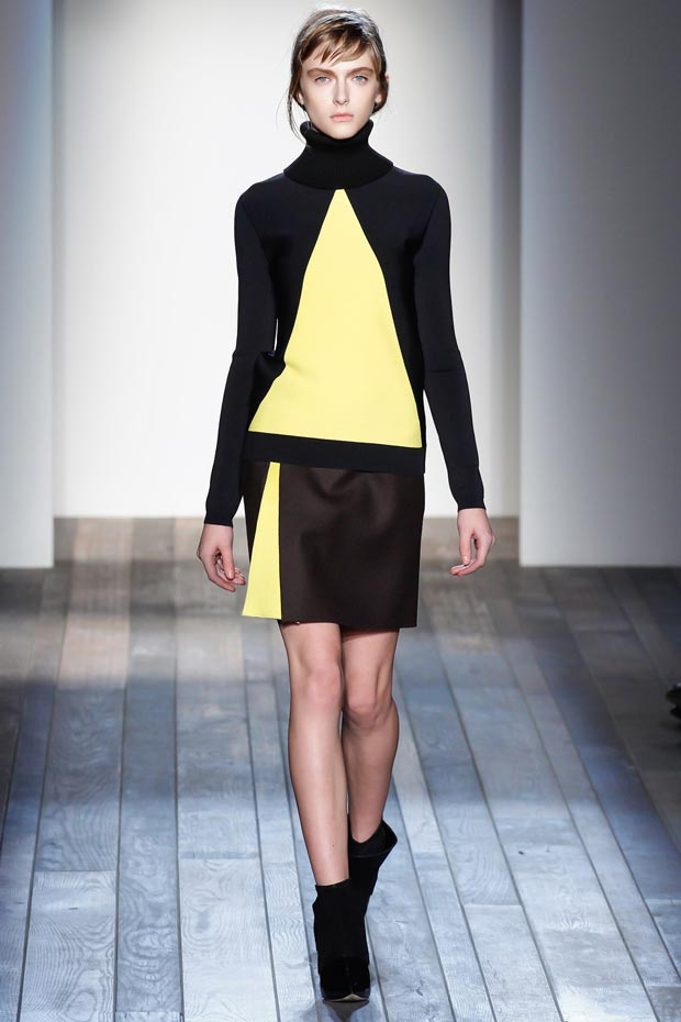 fall geometrical dress Victoria Beckham Fall 2013 collection