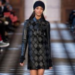 fall leather checkered dress Tommy Hilfiger Fall 2013