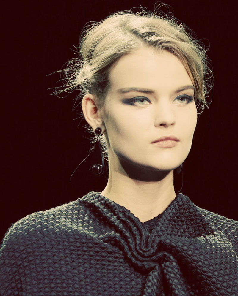 Fall Winter 2014 2015 hair beauty trends Armani