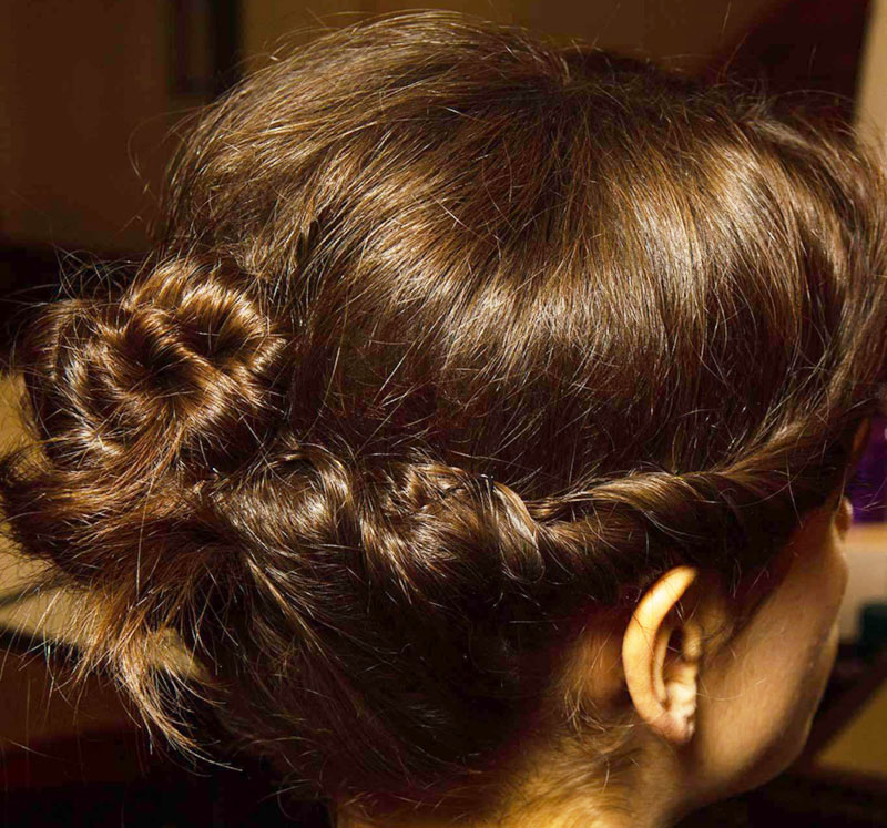 Fall Winter 2014 2015 hair trends twisted bun Armani