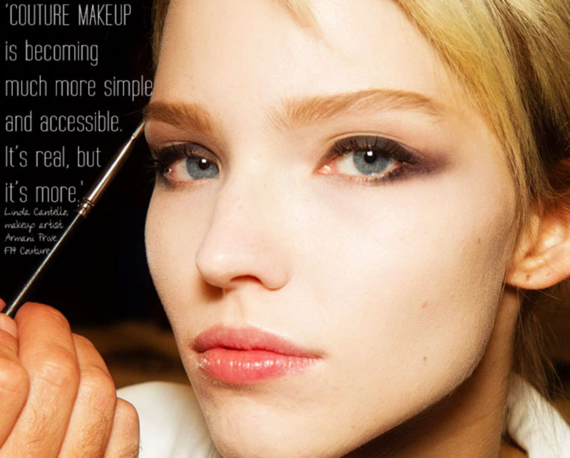 Fall Winter 2014 2015 Beauty Trends: Armani Prive Fall 2014 - StyleFrizz