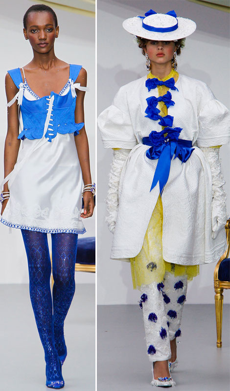 fashion circus Meadham Kirchhoff Spring Summer 2013 collection