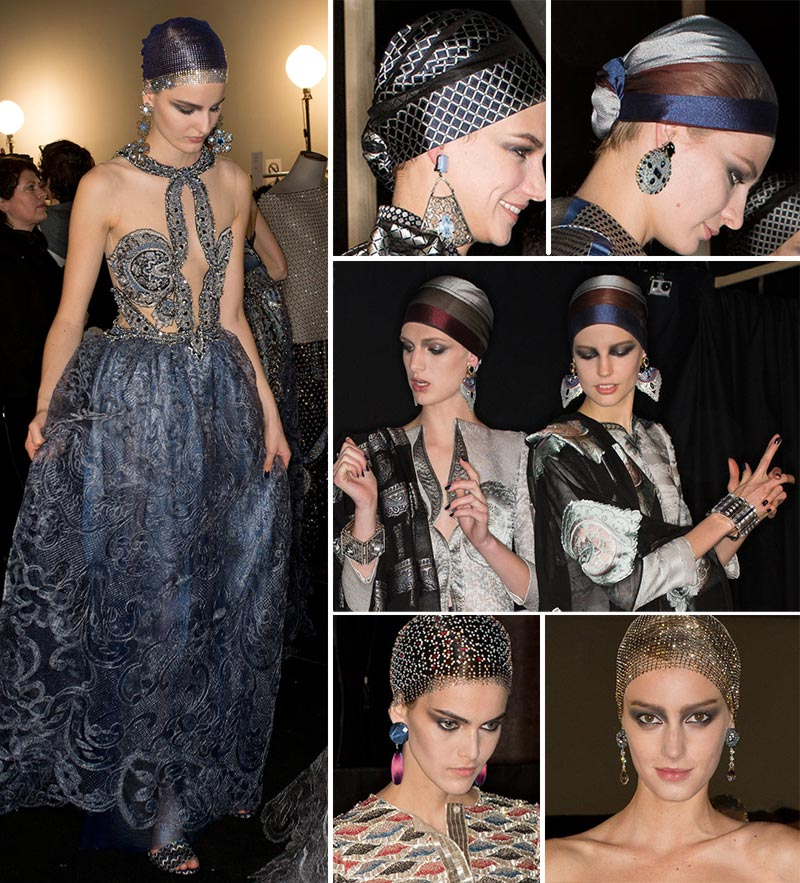 Fashion earrings Armani Prive Spring 2014