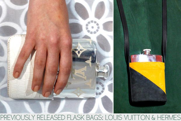Fashion flask bags Vuitton and Hermes