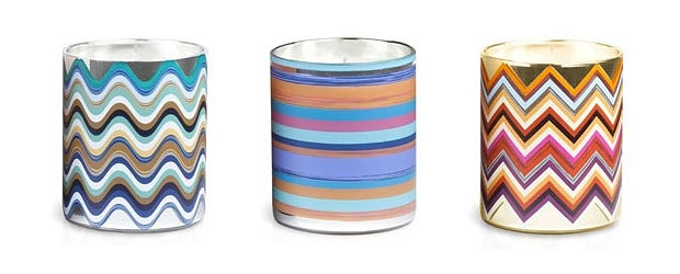 Fashion For Your Home: Missoni Colorful Candles