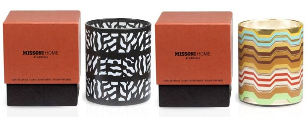 fashion for home Missoni Home candles by Apothia