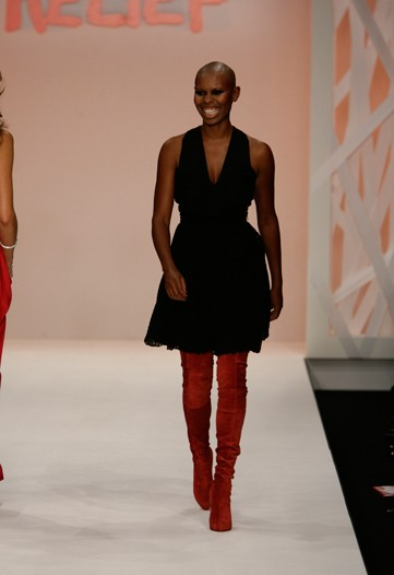 Fashion for Relief Skin red boots