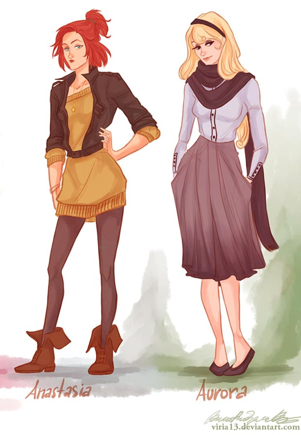 Fashion Princesses in casual clothes Anastasia Aurora viria13