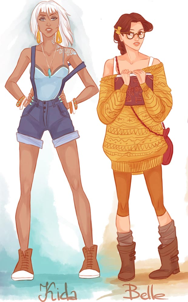 Fashion Princesses in casual clothes viria13