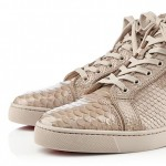 fashion sneakers Louboutin python hi top sneakers