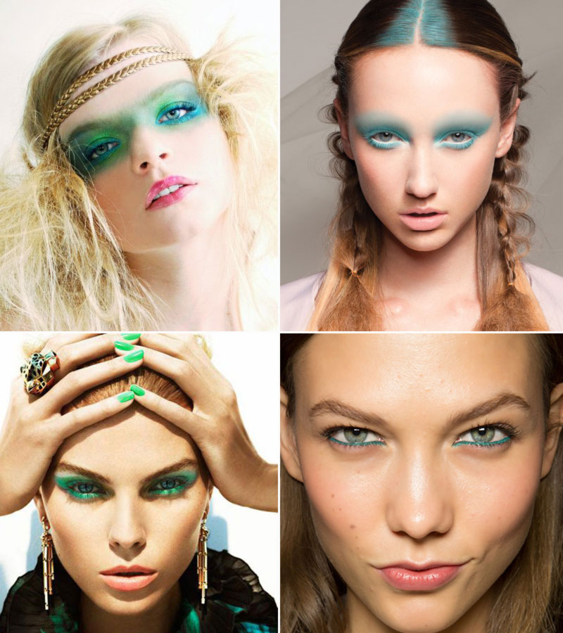 fashionable model makeup inspiration for spring green