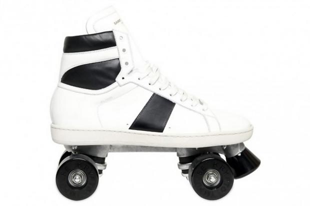 Fashionable roller skates Saint Laurent