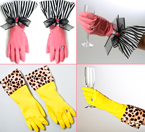Fashionable Rubber Gloves