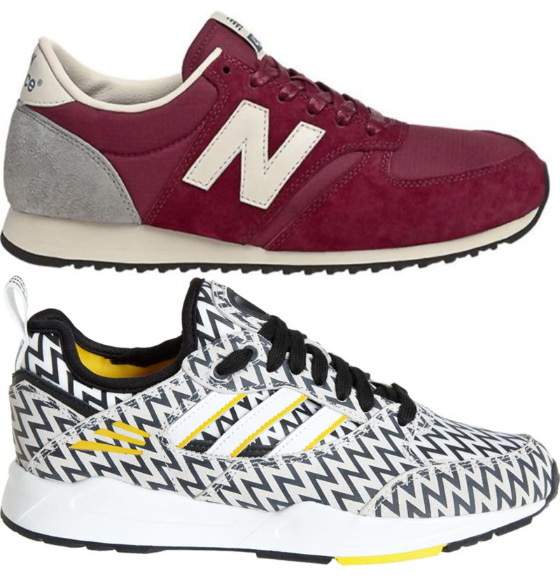 fashionable sneakers Adidas New Balance