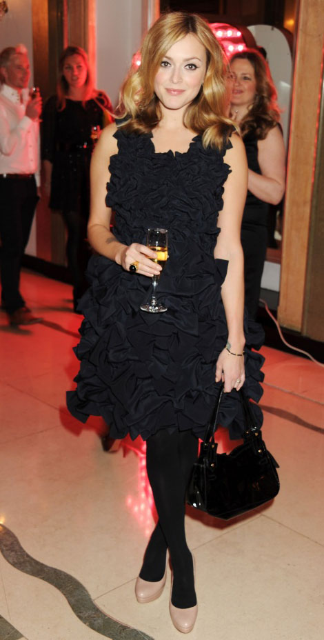 Fearne Cotton Navy blue bow dress Mulberry