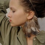 feather ear cuff by Anni Jurgenson