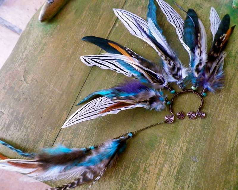 feathered earcuff SpiritTribe