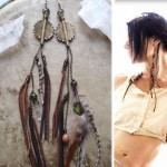 feathered earrings Spirit Tribe