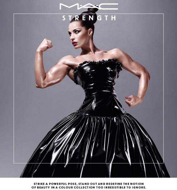 female bodybuilder MAC ad campaign Spring 2013