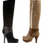 Fendi suede platform boots as worn by Mariah Carey
