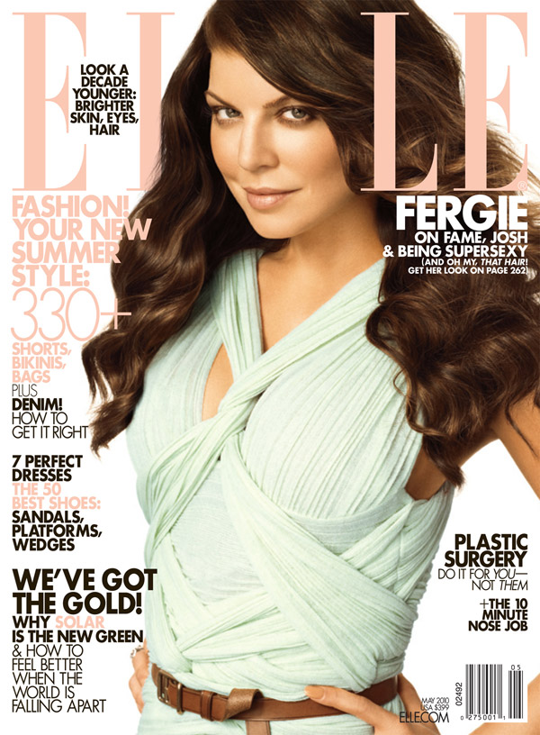 Fergie Elle May 2010 cover large