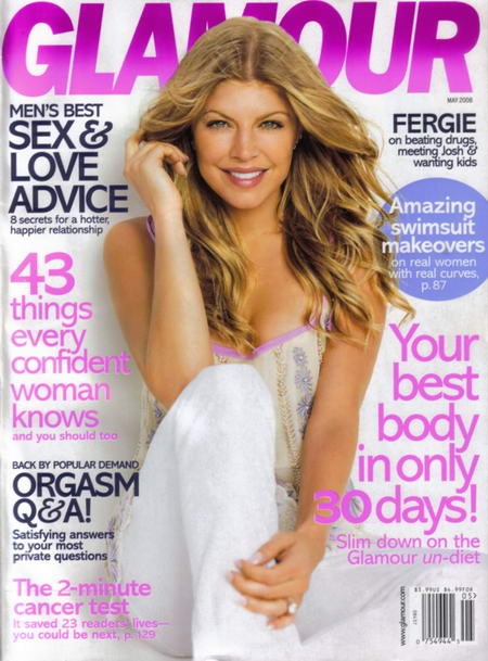 Fergie on the cover of Glamour Magazine