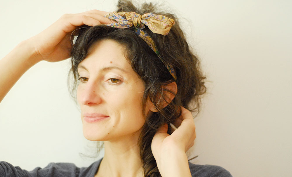 fix bad hair days with scarf