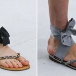 flat couture sandals Chanel fall 2014