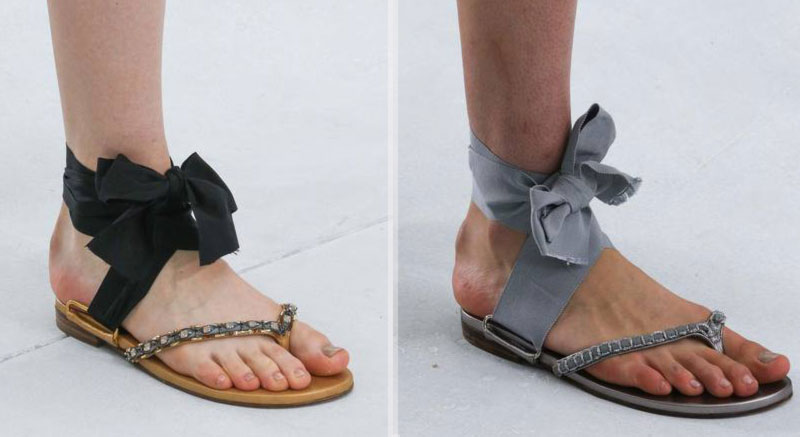 Haute Couture Embraces Flat Sandals: Chanel & Valentino Fall 2014