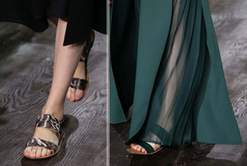flat exotic couture sandals Valentino Fall 2014
