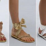 flat ribbon sandals Chanel Couture fall 2014